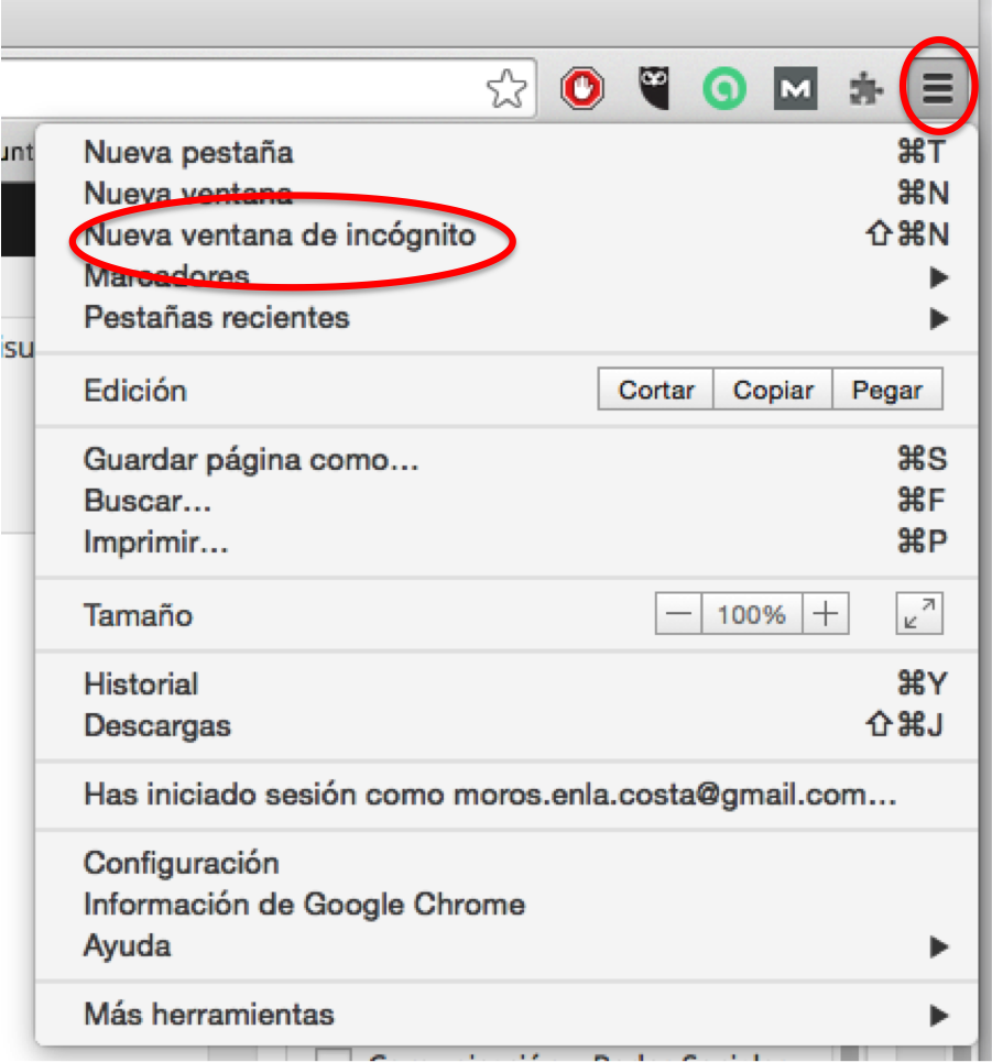 Open Google Chrome in incognito